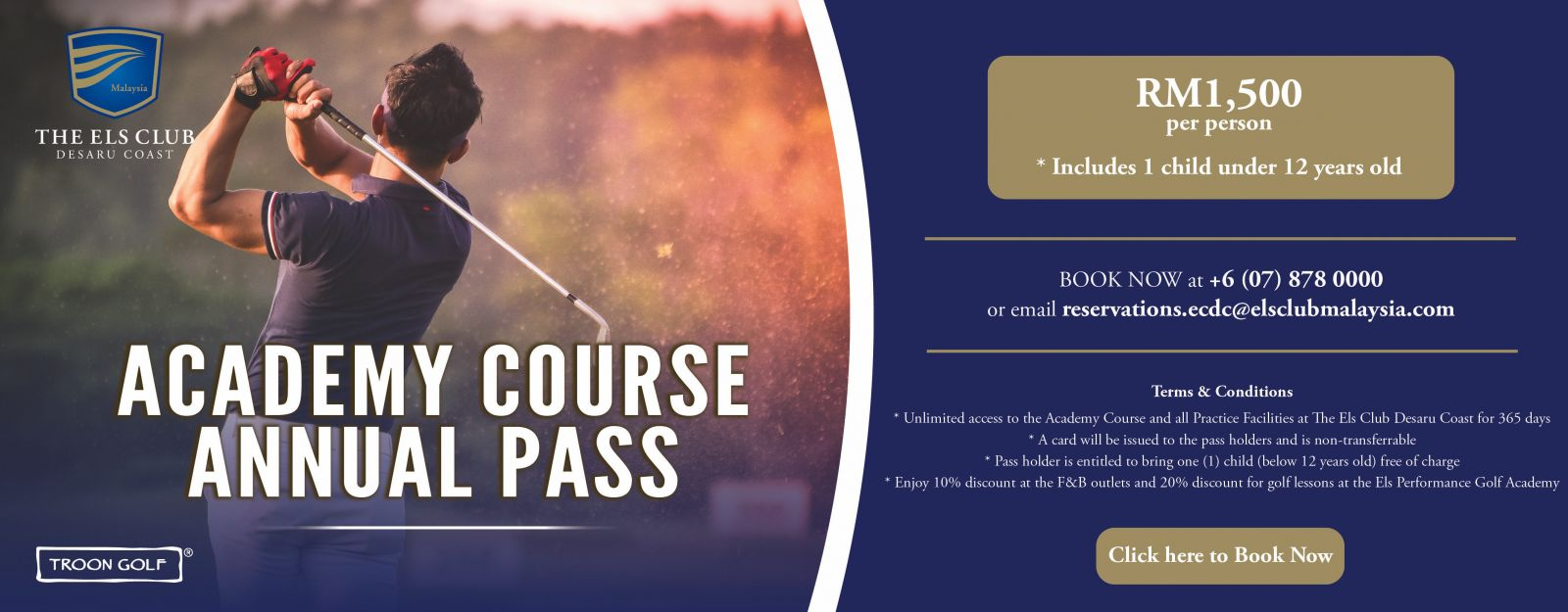 academy course annual pass