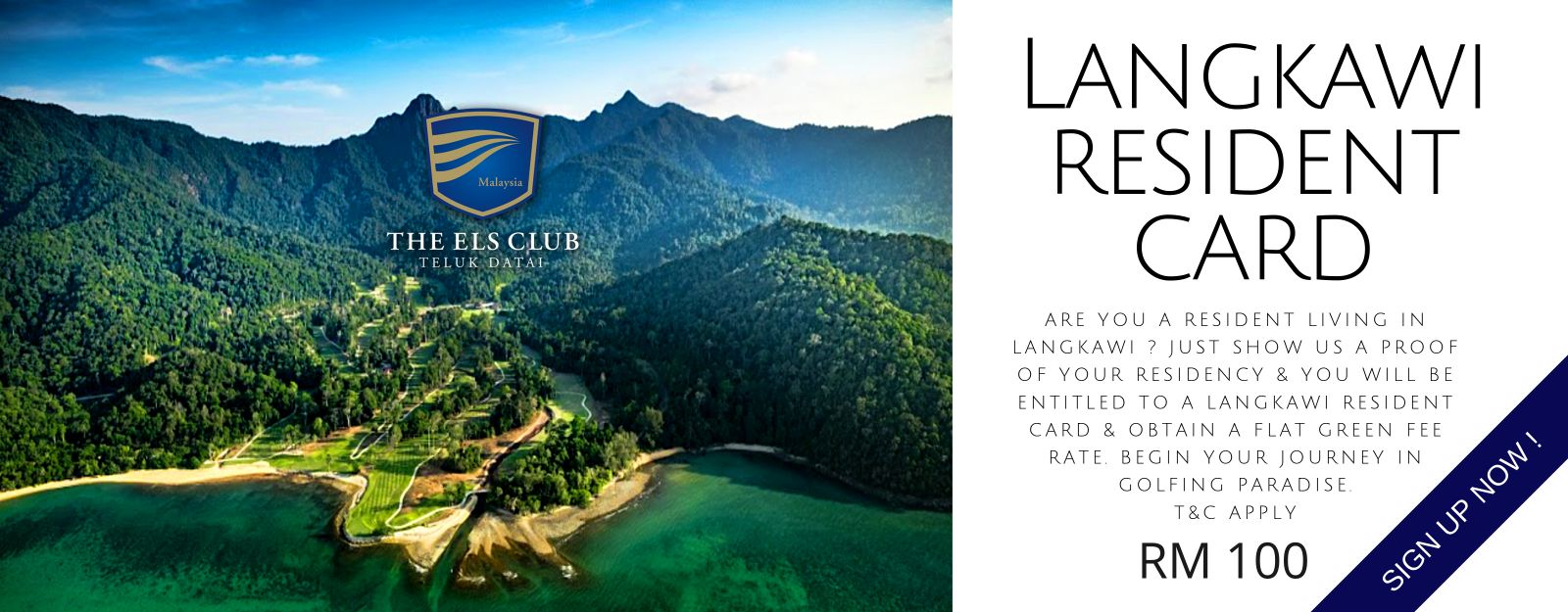 Flyer for a Langkawi Resident Card